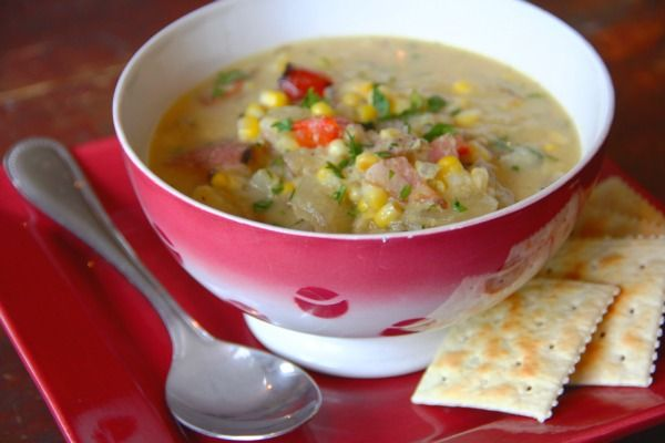 corn chowderRecipe Because, Cream Corn, Summer Recipe, Lighter Version, Corn Chowders, Seasons Classic, Cornchowder, Creamless Corn, Chowders Recipe