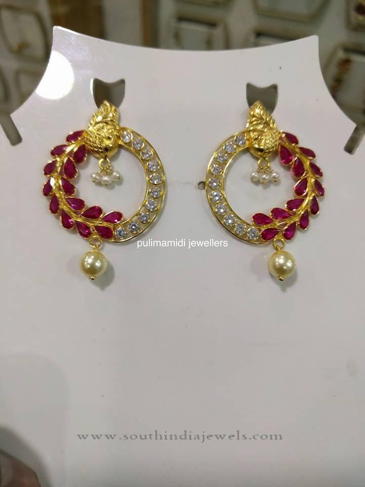 22k Gold Designer Ruby Earrings Earings Pinterest And