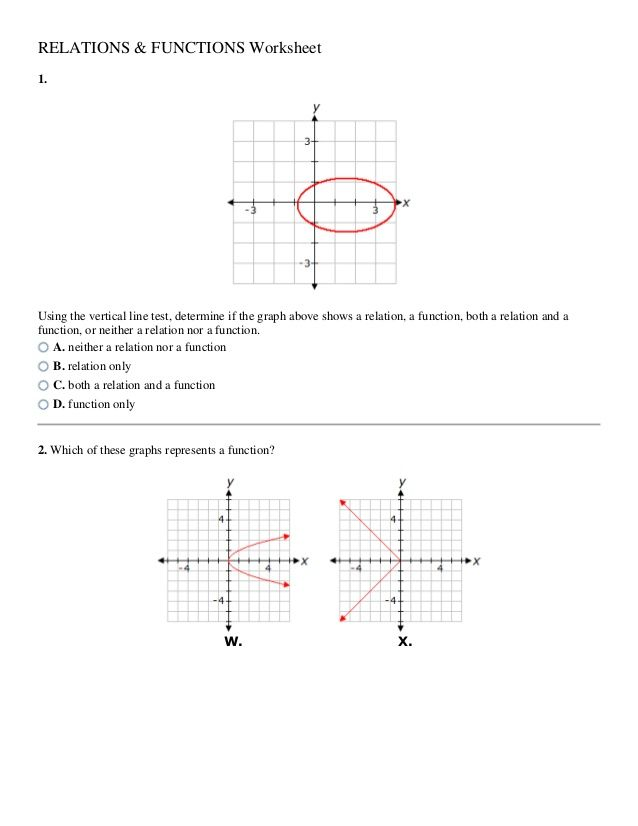 7 Algebra Relations And Functions Worksheet Answers Relation Worksheet Colonad7