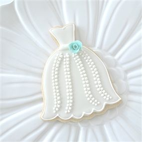 Tiffany Bridal Gown Cookie