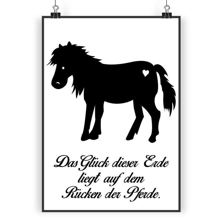 Poster DIN A3 Pony aus Papier 160 Gramm  weiß - Das Original von Mr. & Mrs. Panda.  Jedes wunderschöne Poster aus dem Hause Mr. & Mrs. Panda ist mit Liebe handgezeichnet und entworfen. Wir liefern es sicher und schnell im Format DIN A3 zu dir nach Hause.    Über unser Motiv Pony  123 Sommer. Blumenwiesen. Frühlingsduft. Aus dem Wald an der Koppel kommt Vogelgezwitscher. Du sitzt verträumt im Gras und schaust deinem Pony beim Grasen zu.... Klingt wunderschön aber ist leider nicht die…