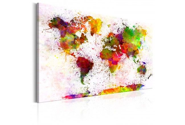 World Map made on canvas - check our collection #worldmap #map #maponcanvas #wallart #livingroom #walldecoration