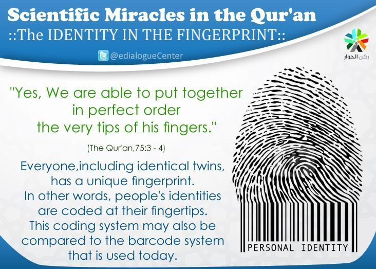 The identify in the fingerprint (Scientific Miracles in the Qur'an)