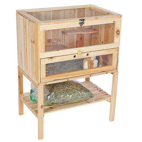 Jaula, granja,casita de madera para pequeños animales, hámster, conejo | eBay