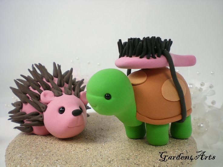 Custom Turtle & Hedgehog Love Wedding Cake Topper with Sand Base - LOVE can find the way--NEW. $79.00, via Etsy.