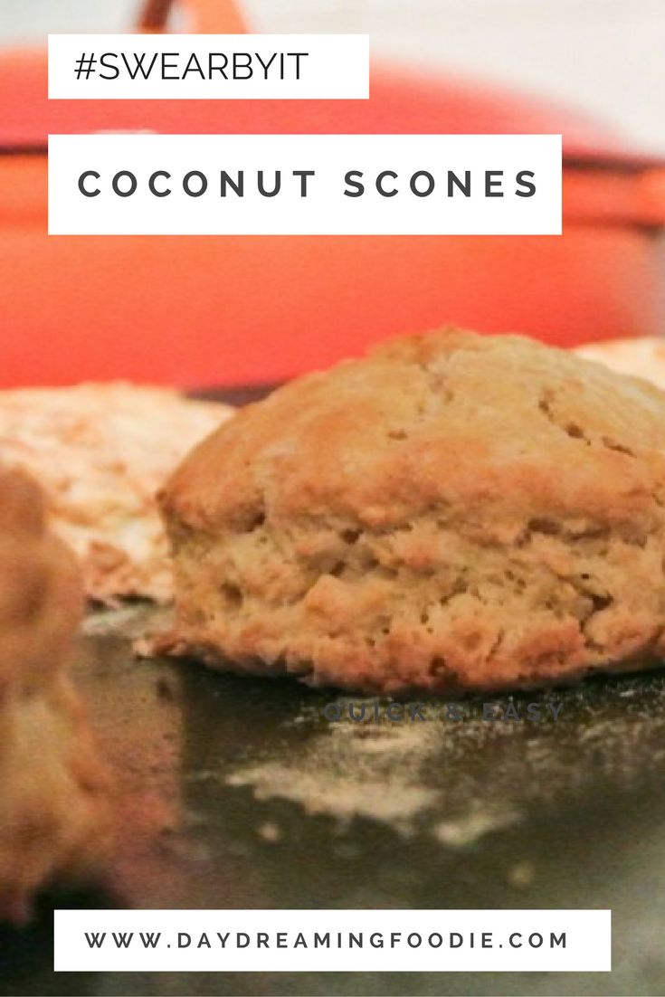 Scones with a twist. These butter free scones make a beautiful alternative to the usual butter laden equivalent. Quick and easy coconut scones!