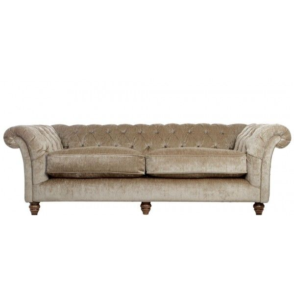 Belvedere 3 Seater Tufted Fabric Chesterfield Sofa In 8 Velvet Chenille  Colours. 5 Year Guarantee