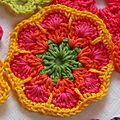 Flor de crochê africana: tutorial - Nijenn