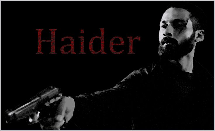 Shahid Kapoor's poster from the movie Haider