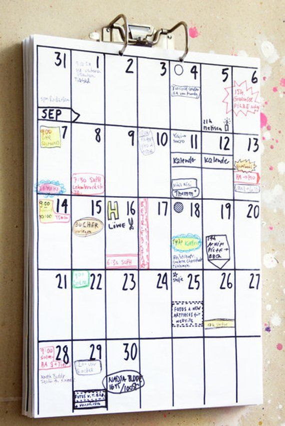 calendar 2021 / 2022 (18 months) | Diy calendar, Bullet journal