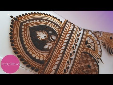 Contemporary Indian bridal mehendi design | Henna tutorials by Devaky S Dharan - YouTube