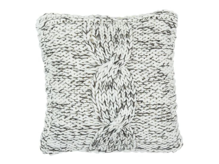 Cable Knit Grey/White Cushion Cover - A soft & chunky knit cushion cover available in a range of neutral tones that will compliment any space in your home.