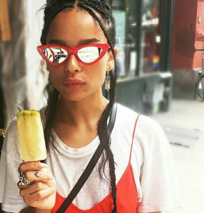 Zoe kravits style cool sunglases