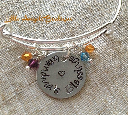 Mothers Day Gift Grandmas Blessings  by littleangelsboutique