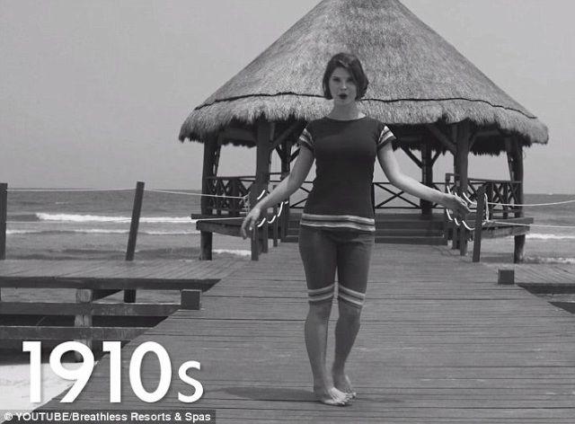 Amanda Cerny | The Evolution of the Bikini (video)