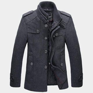 Buy 'One-T – Wool-Blend Buttoned Twill Jacket' with Free Shipping at YesStyle.ca. Browse and shop for thousands of Asian fashion items from China and more!