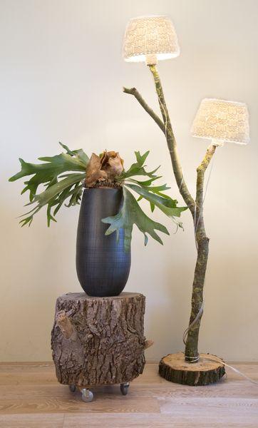 Vloerlamp met 2 gebreiden kappen - Stronk! van Stronk! op DaWanda.com