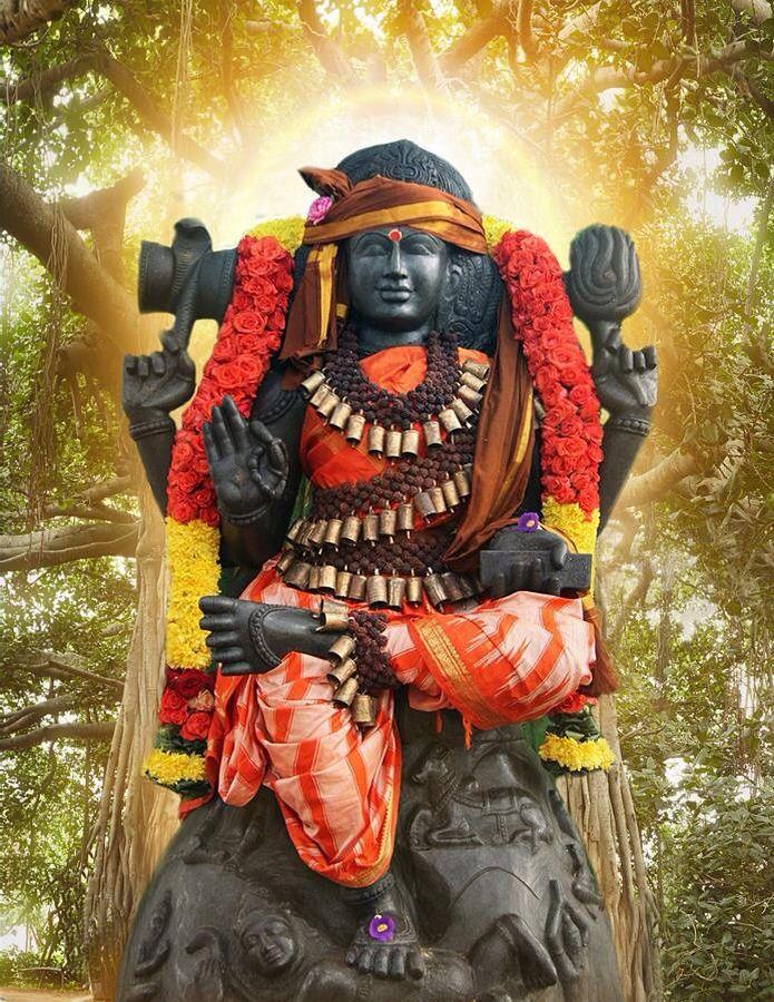 Dakshinamurti- original guru adiguru' shiva who embodies the power of silence.seated beneath banyan tree he gives mukti in upanishad pic courtesy: nithyananda ashram india vedicgod