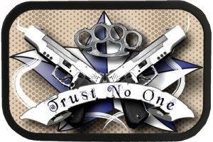 Trust no one tattoo trust no one tattoo belt buckle for Trust no one tattoo