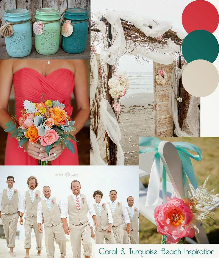 80 best wedding styling moodboards images on pinterest wedding a turquoise green and coral beach themed wedding moodboard by httpknotsandkisses junglespirit Gallery