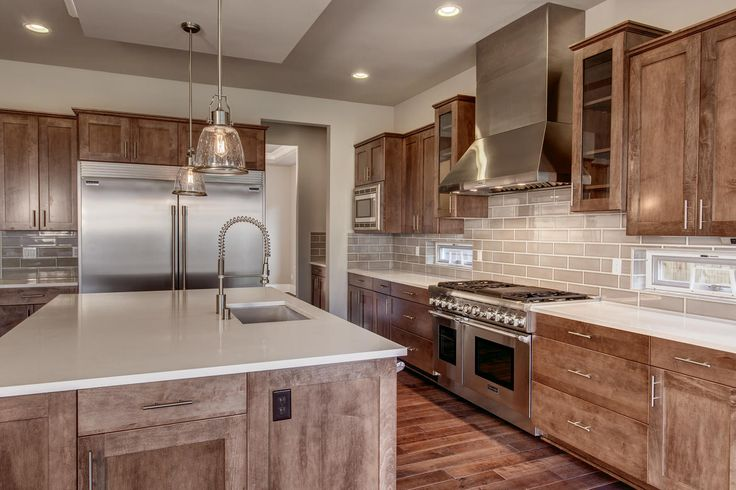 Classic open kitchen found at the Astoria home in Sammamish, Washington