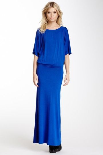 Elbow Dolman Sleeve Maxi Dress by Go Couture on @HauteLook