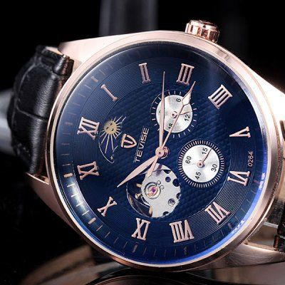 Tevise 0264 Automatic Mechanical Watch Phases of the Moon-19.20 Online Shopping  GearBest.com