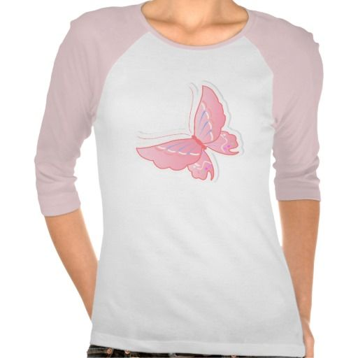 Stylish Butterfly • Ladies 3/4 Sleeve Raglan Shirts