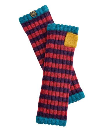 Joules null Womens Knitted Arm Warmers, Dark Violet.                     The only way to wave the cold goodbye in style – perfect for keeping your fingers free for hedgerow plundering and added the finishing touches to your snowman.