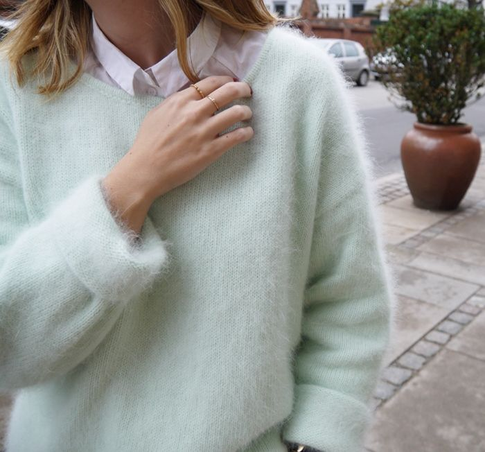 Mint Sweater + Button Down Shirt; Spring/Fall                                                                                                                                                                                 More