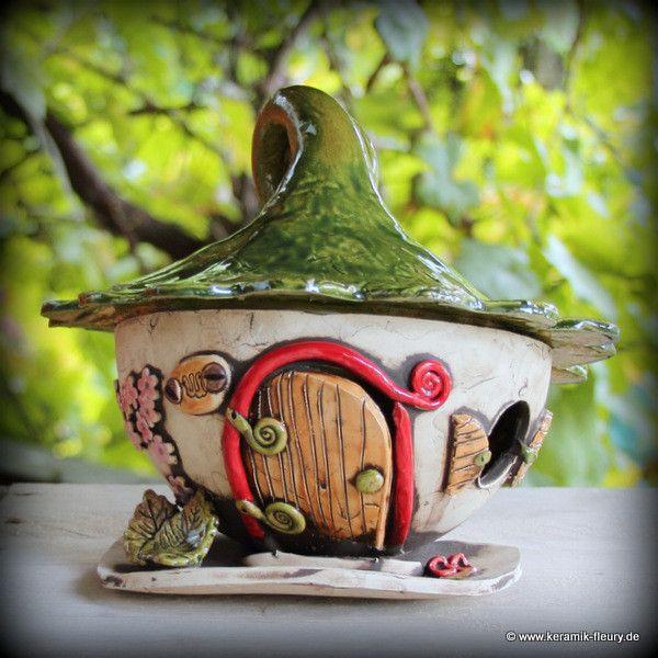 25 einzigartige miniaturen aus modelliermasse ideen auf - Keramik katzen fur garten ...