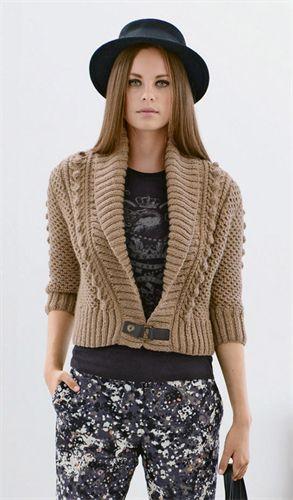 Bergere de France Cropped Shawl Collar Cardigan Pattern 336.561