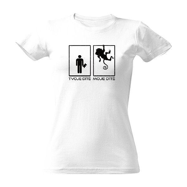 Tričko s potiskem Miluju svoje opičí dítě - vtipný dárek pro všechny  rodiče!  dítě e4800b19ac