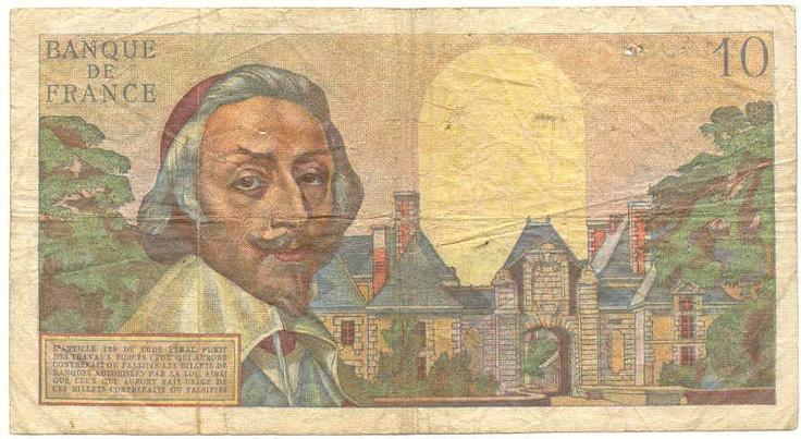 10 francs - 1961 Qui se disait 1000 francs. 1 franc se disait 100 francs…reépinglé par Maurie Daboux.•*´♥*•❥ڿڰۣ—