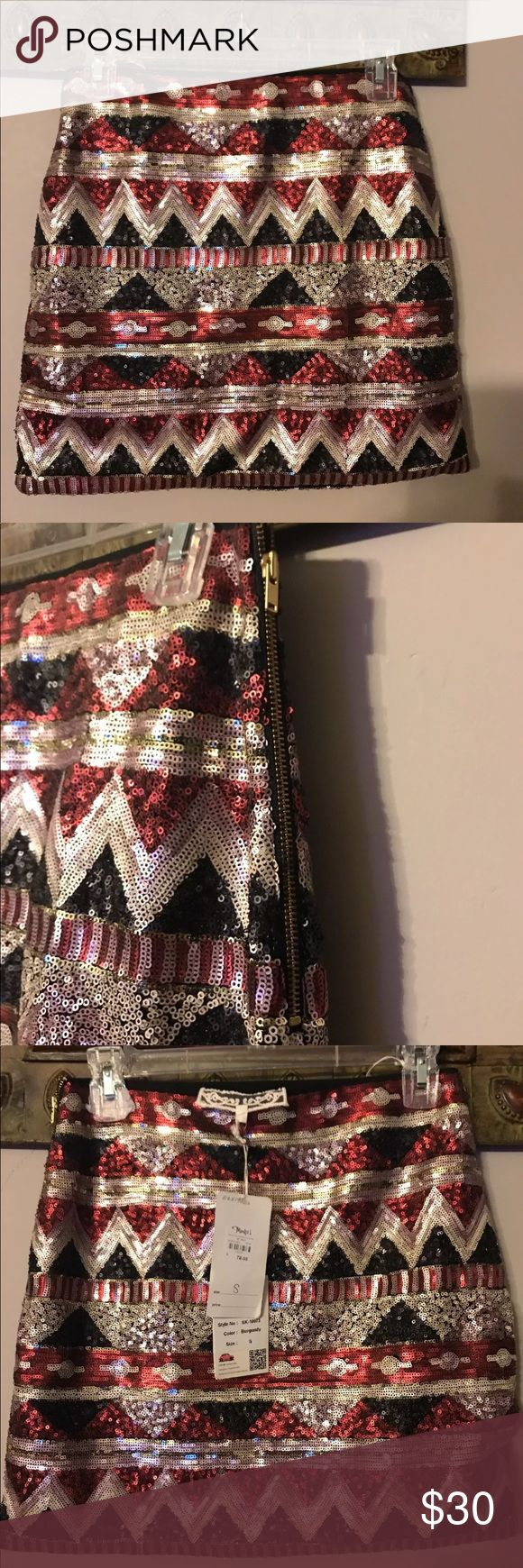 "NWT PINK MARTINI BLACK RED SEQUIN MINI SKIRT SZ SM SEQUINS MINI SKIRT RED BLACK AND PINK SIDE ZIPPER FULLY LINED ORIGINAL PRICE $78  WAIST 14"" HIPS 18"" LENGTH 15.5""  STORED IN A PET AND SMOKE FREE HOME   PLEASE FEEL FREE TO CONTACT ME WITH ANY QUESTIONS OR CONCERNS   THANKS FOR LOOKING AT MY ITEMS Pink Martini Skirts Mini"