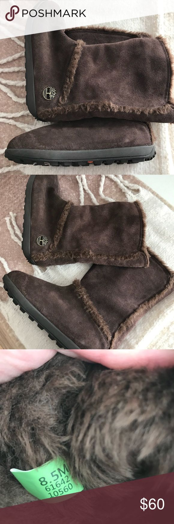 Timberland Mukluk Boots Never worn, new without box or tags. Brown Timberland mukluk boots. Size 8 1/2 Women's Timberland Shoes Winter & Rain Boots