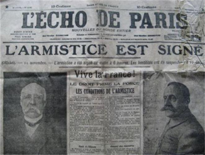 Le 11 novembre, jour de l'Armistice