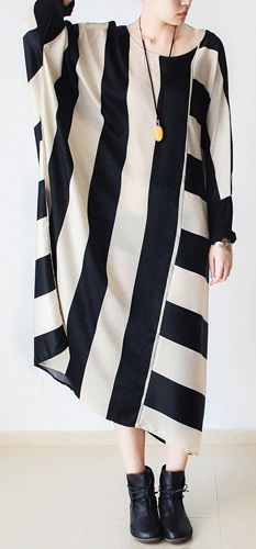 2017-autumn-trend-stripe-baggy-dresses