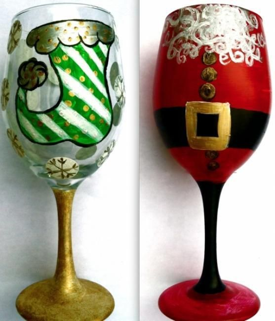 1000 images about hand painted glass on pinterest hand for Christmas glass painting