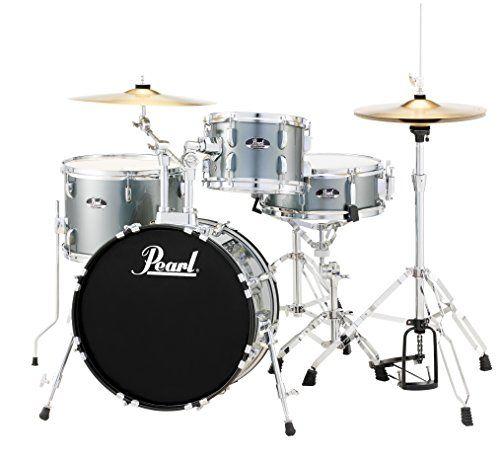 Pearl Roadshow RS584C/C706 4-Piece Drum Set, Charcoal Metallic  http://www.instrumentssale.com/pearl-roadshow-rs584cc706-4-piece-drum-set-charcoal-metallic/