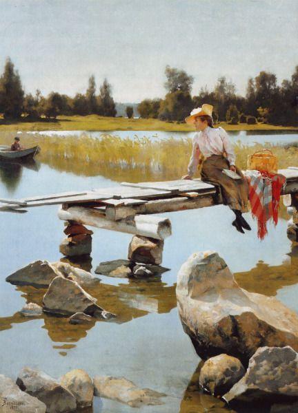 """Summer"" (1893) by Gunnar Fredrik Berndtson (Finnish 1854-1895)"