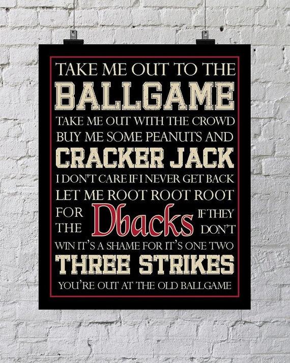 Arizona Diamondbacks Dbacks Baseball Subway by PunkalunkPrintables, $5.95