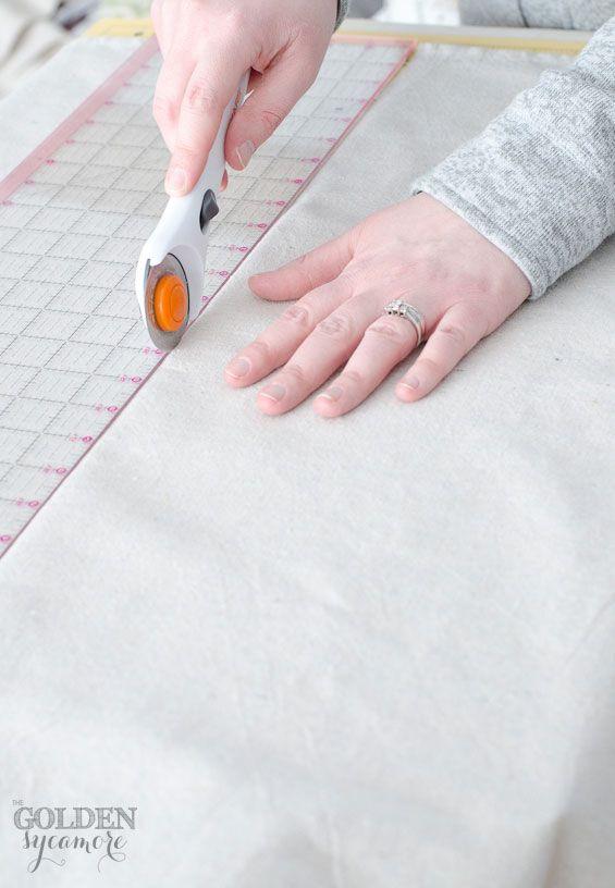 DIY No Sew Drop Cloth Curtains