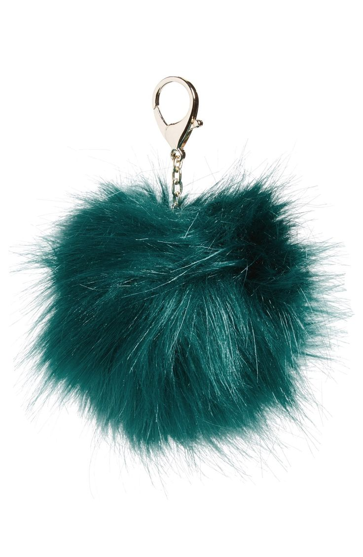Nila Anthony Faux Fur Pompom Clip in TEAL, GREY And LIGHT PINK $15each