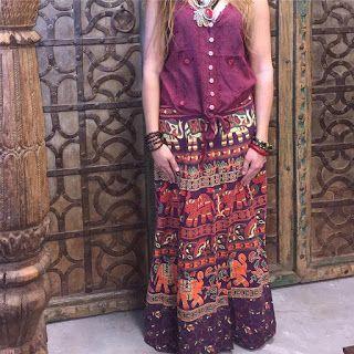 Bohemian Style Clothing : Boho Summer Casual Stylish Gypsy SKIRTS