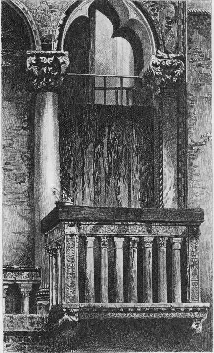 John Ruskin, The Seven Lamps of Architecture, 1855 Plate XI, Window in the Campo St. Benedetto, Venice, p. 125