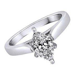 1.13Ct D/ VVS1 Solitaire Engagement Ring Marquise In White Gold Bridal Jewelry by JewelryHub on Opensky