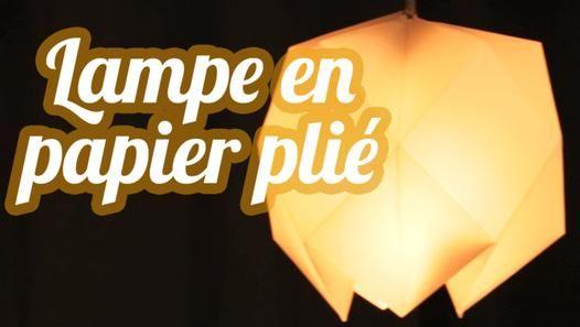 1000 id es sur le th me lampes en papier sur pinterest origami lampe lumi - Creation abat jour papier ...