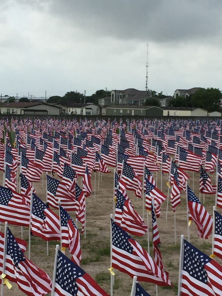 Field of honor Victoria Texas. 3,300+ American flags