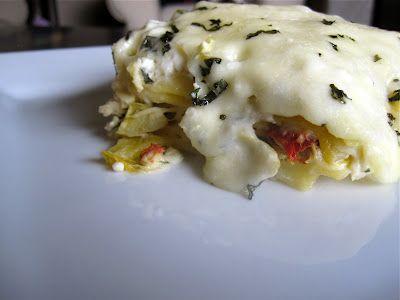 Creamy White Chicken & Artichoke Lasagna | Recipes - Use Your Noodle ...
